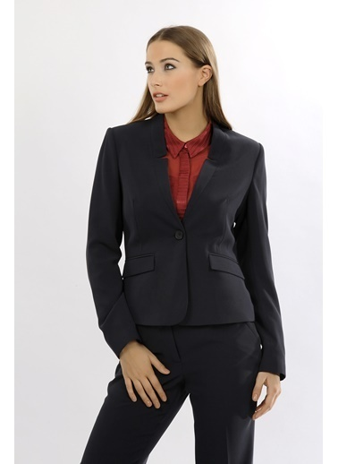 NaraMaxx Yaka Detaylı Blazer Ceket Lacivert